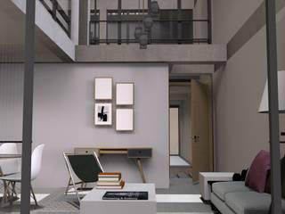 Minimalistyczny salon od Designo Arquitectos Minimalistyczny