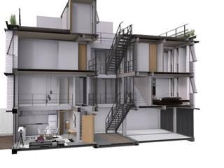 Minimalistyczna sypialnia od Designo Arquitectos Minimalistyczny