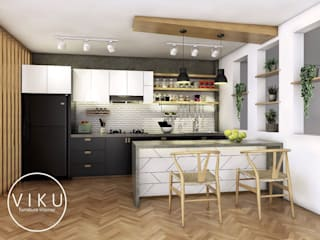 viku KitchenCabinets & shelves Wood White