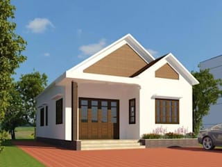 """Những lưu ý """"vàng"""" để xây dựng nhà cấp 4 giá rẻ, chất lượng:  Nhà by Kiến Trúc Xây Dựng Incocons, Hiện đại"""
