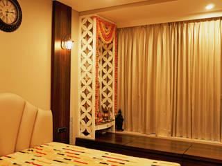 monochrome Minimalist bedroom by shades - design studio by shweta Minimalist