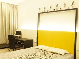 creative rhythm Modern style bedroom by shades - design studio by shweta Modern