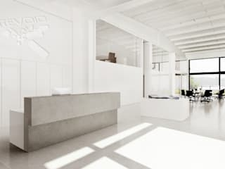 Oficinas y tiendas de estilo moderno de FISCHER & PARTNER lichtdesign. planung. realisierung Moderno