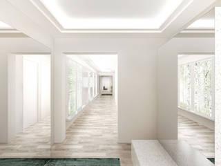 現代風玄關、走廊與階梯 根據 FISCHER & PARTNER lichtdesign. planung. realisierung 現代風