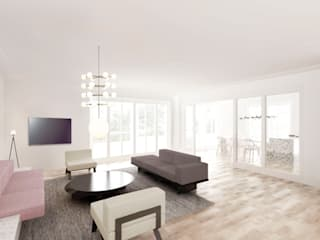 现代客厅設計點子、靈感 & 圖片 根據 FISCHER & PARTNER lichtdesign. planung. realisierung 現代風