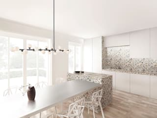 現代廚房設計點子、靈感&圖片 根據 FISCHER & PARTNER lichtdesign. planung. realisierung 現代風
