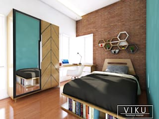 viku BedroomBeds & headboards Wood Brown
