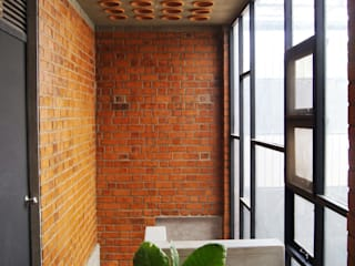 House for a Mother Modern corridor, hallway & stairs by Studio4a Modern