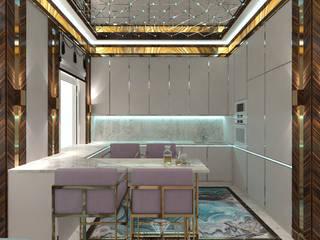 Cocinas de estilo ecléctico de Студия дизайна интерьера Руслана и Марии Грин Ecléctico
