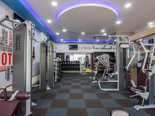 Offbeat gym at kandivali, Mumbai Modern gym by A Design Studio Modern