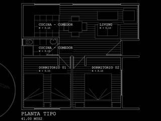 Diseño de Cabaña 41 por Lobería Arquitectura de Loberia Arquitectura Mediterráneo