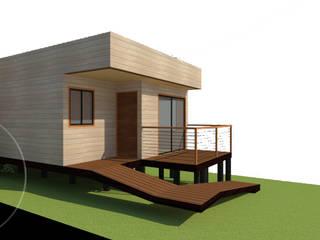Diseño de Cabaña 52 por Lobería Arquitectura de Loberia Arquitectura Mediterráneo