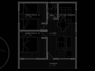 Diseño de Casa 40 por Lobería Arquitectura de Loberia Arquitectura Mediterráneo