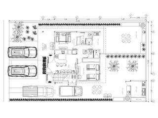 Planta Baja: Casas de estilo  por Stonehenge Urbano