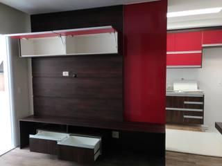 Sala de estar e cozinha sob medida Salas de estar modernas por Campelli Móveis Sob Medida Moderno