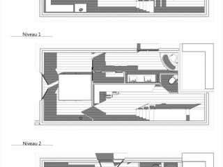 Réaménagement d'une maison de ville sur 2 niveaux: Salon de style  par LADD by Audrey Scotto