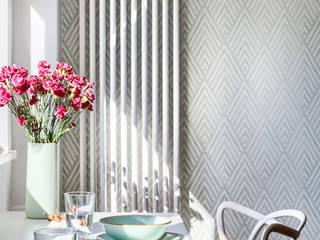 Zielony Żoliborz: styl , w kategorii Jadalnia zaprojektowany przez IDeALS | interior design and living store