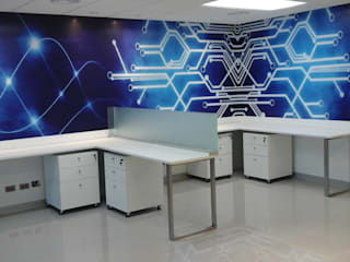 Design Comercial Modern study/office Wood Blue