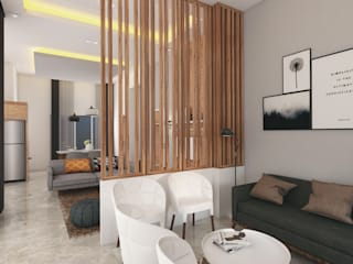 HUNIAN TROPIS PERUMAHAN CASA.ID ARCHITECTS Living roomAccessories & decoration Kayu Buatan Brown