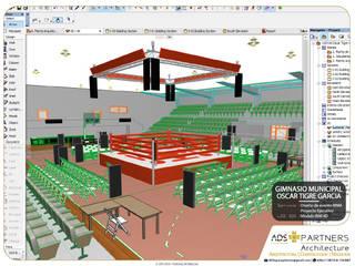 Gimnasio Municipal | Oscar Tigre Garcia, ENSENADA B.C:  de estilo  por ADS + Partners | Architecture