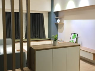 玄關的空間運用 圓方空間設計 Scandinavian style corridor, hallway& stairs Plywood Wood effect