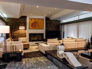 Sala da Aroeira - design de interiores Salas de estar ecléticas por Oficina Design Eclético