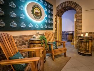Aranżacja wnętrza Piwnego Spa w Zakopanem: styl , w kategorii Hotele zaprojektowany przez ScandiSpa