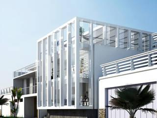 Casa en la Honda : Casas unifamiliares de estilo  por ARCHITECTS, Minimalista