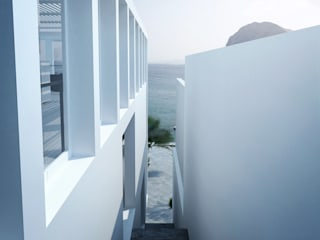 Casa en la Honda : Pasillos y vestíbulos de estilo  por ARCHITECTS, Minimalista