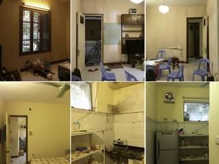 Dịch vụ cải tạo nhà cửa giá rẻ tại Hà Nội - 0243.200.39.09:  Nhà cho nhiều gia đình by Kiến Trúc Xây Dựng Incocons, Hiện đại