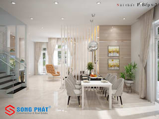Offices & stores by Công ty Thiết Kế Xây Dựng Song Phát, Modern