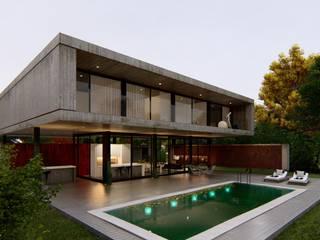 VIVIENDA UNIFAMILIAR Grand Bell #1070 Casas modernas: Ideas, imágenes y decoración de Arq Olivares Moderno
