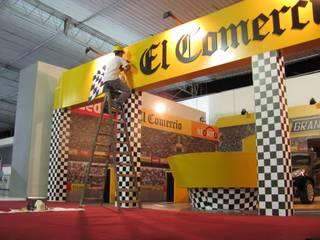 Stand El Comercio - Motorshow Anexos de estilo industrial de Omd Group Industrial