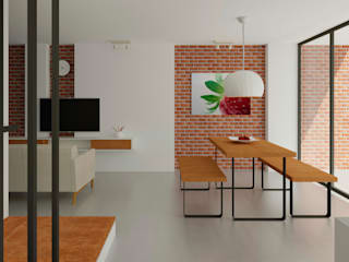 Casa Santa Anita: Salas de estilo  por Punto De Fuga Arquitectura
