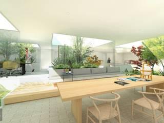 小さな、自分だけの森: NOMA/桑原淳司建築設計事務所が手掛けたリビングです。,