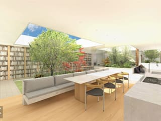 小さな、自分だけの森: NOMA/桑原淳司建築設計事務所が手掛けたキッチンです。,