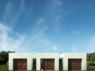 Casa Santander: Casas campestres de estilo  por Punto De Fuga Arquitectura