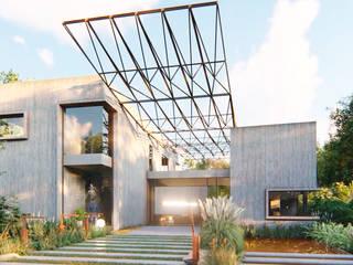 VIVIENDA UNIFAMILIAR Lomas de City Bell #251 Casas modernas: Ideas, imágenes y decoración de Arq Olivares Moderno