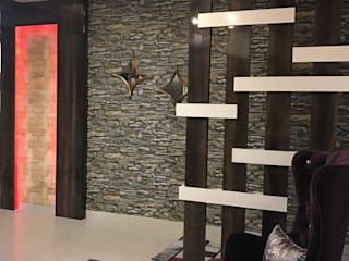 Residential Flat @ ATS ADVANTAGE INDIRAPURAM :  Living room by Design Radical