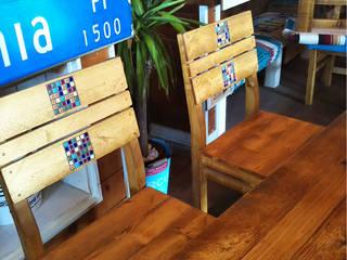 古材家具 ダイニングセット(ブラウン) : umikaguが手掛けた工業用です。,インダストリアル