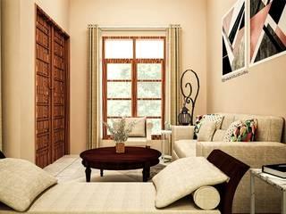 Eclectic style living room by Vaastu Arsitektur Studio Eclectic
