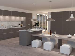 مطبخ ذو قطع مدمجة تنفيذ Lambda Design