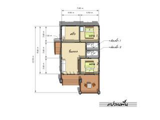 แปลน โดย แบบบ้านออกแบบบ้านเชียงใหม่ ผสมผสาน คอนกรีต