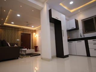 Begonia Homes | 2BHK | Semi Furnished Home Asian style dining room by Enrich Interiors & Decors Asian