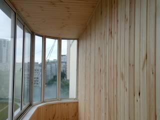 Отделка балкона евровагонкой: Зимние сады в . Автор – ООО 'НовоДомСтрой-Новосибирск'