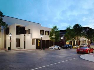 Oficinas y Salón de Eventos: Salones para eventos de estilo  por Javier Diaz │ arquitecto,