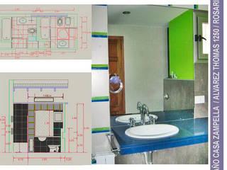 Vivienda en Alberdi Bianchi _ Andorni Baños modernos de Metamorfosis arquitectura y diseño Moderno