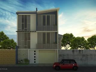 fachada principal : Casas de estilo  por GT-R Arquitectos