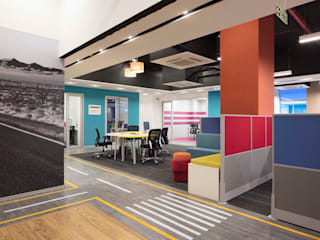 Apex Project Solutions Pvt. Ltd. Commercial Spaces Engineered Wood Multicolored
