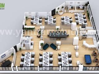3D Office Floor Designer ideas by Yantram Architectural Visualisation Studio, Amsterdam - Netherland Yantram Architectural Design Studio